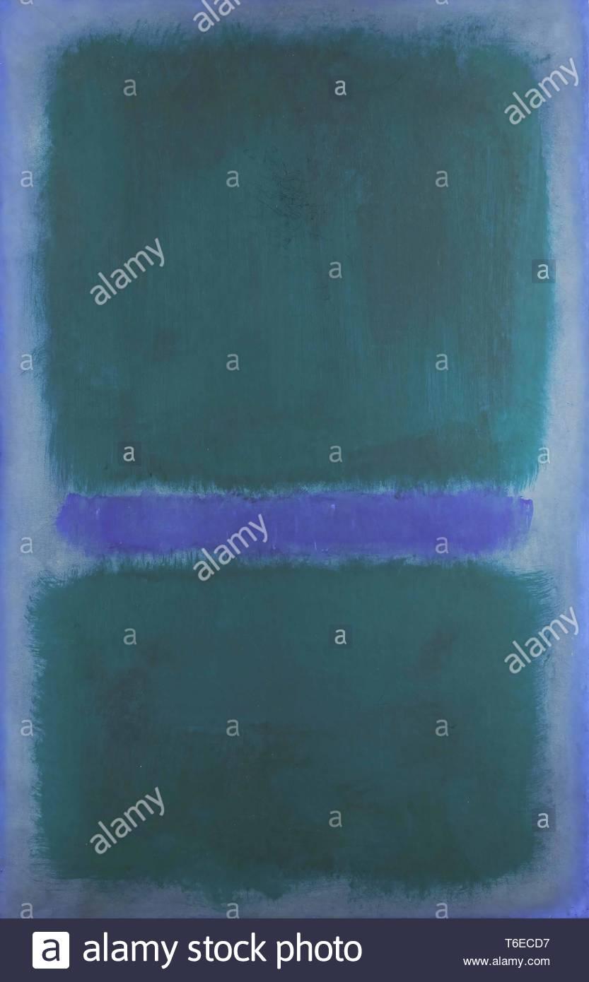 Mark Rothko-Untitled (BlueGreen, Blue on Blue Ground) - Stock Image