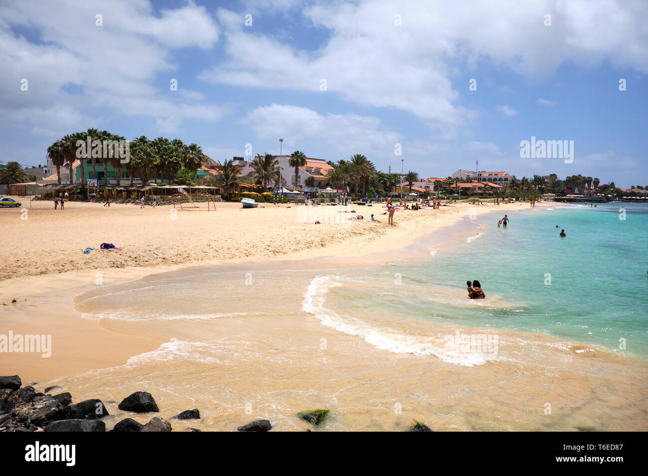 Santa Maria Beach, Sal Island, Cape Verde, Africa Stock Photo