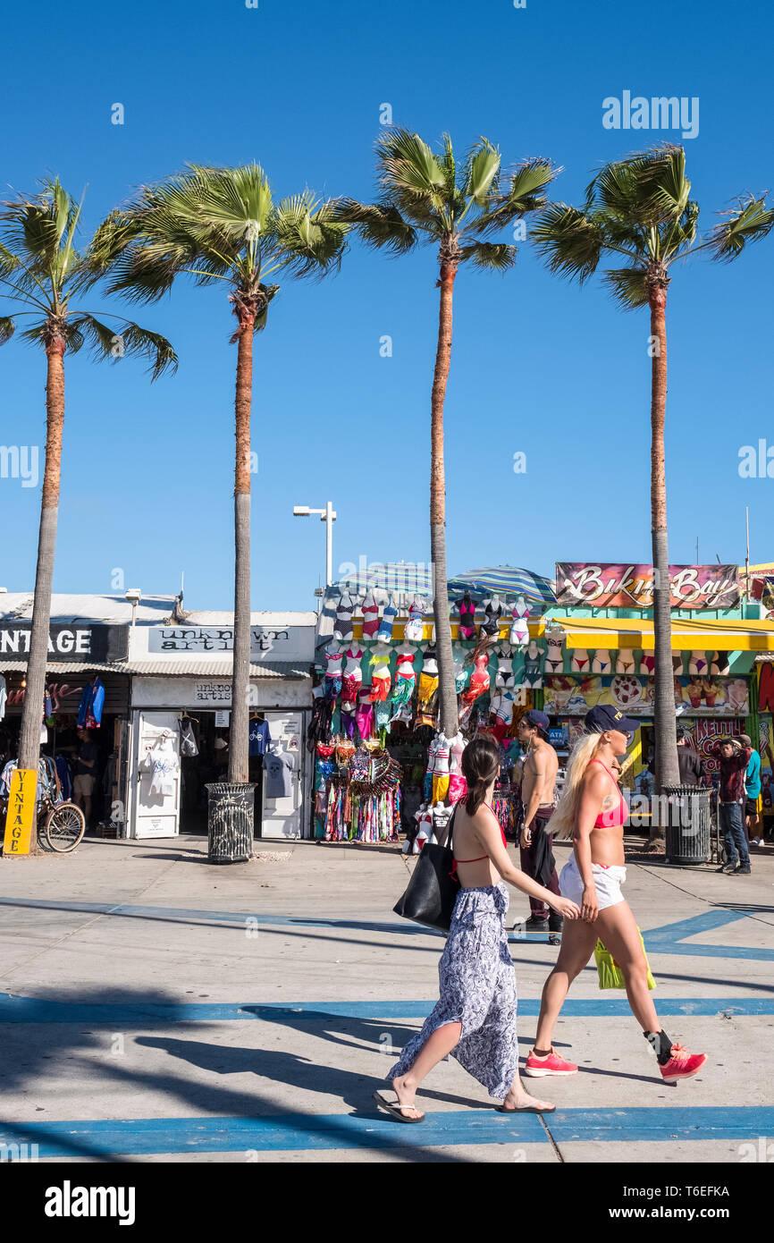 Enjoying The Sunny California Weather Los Angeles Stock
