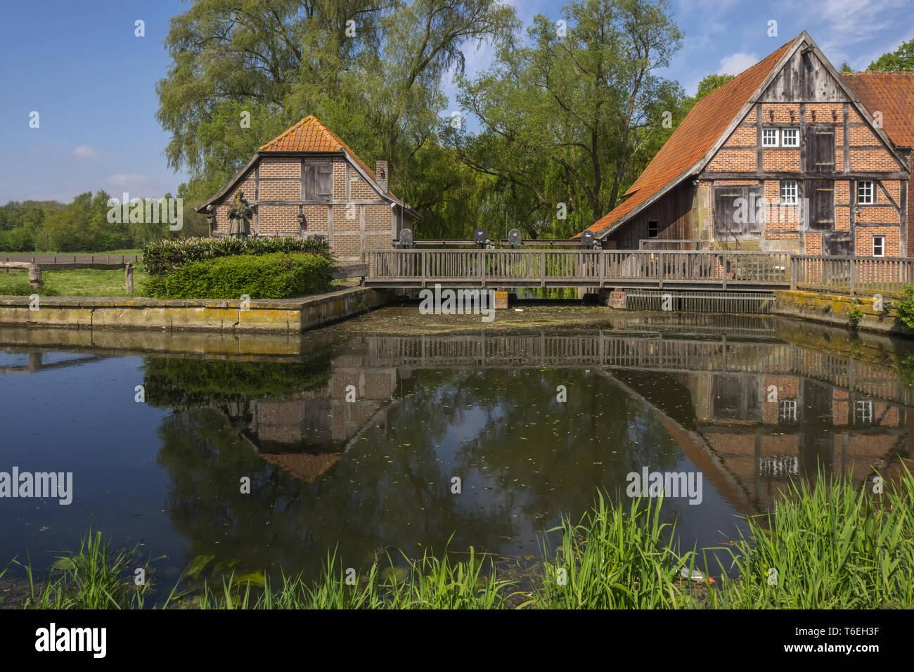 Prince Bishop grain mill to Nienborg. - Stock Image