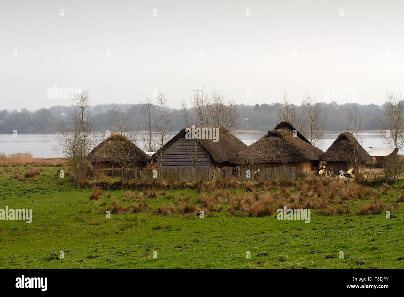 Historical huts in Germany - Stock Image