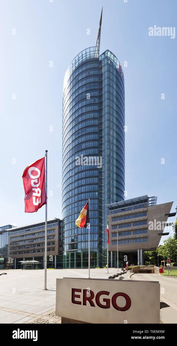 Victoria Tower, Ergo Tower, Duesseldorf, North Rhine-Westphalia, Germany, Europe - Stock Image