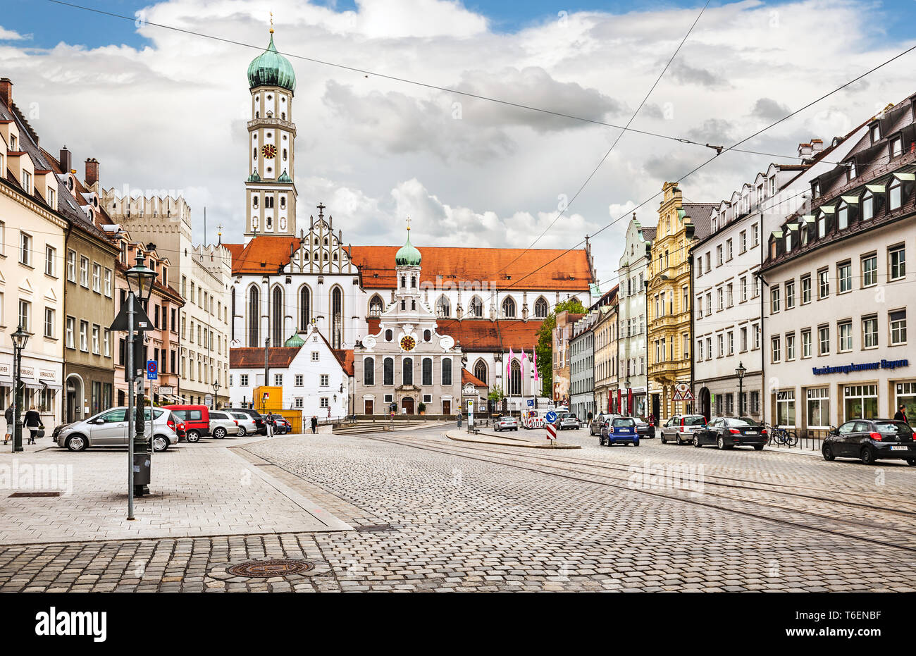 City centre of Augsburg. - Stock Image
