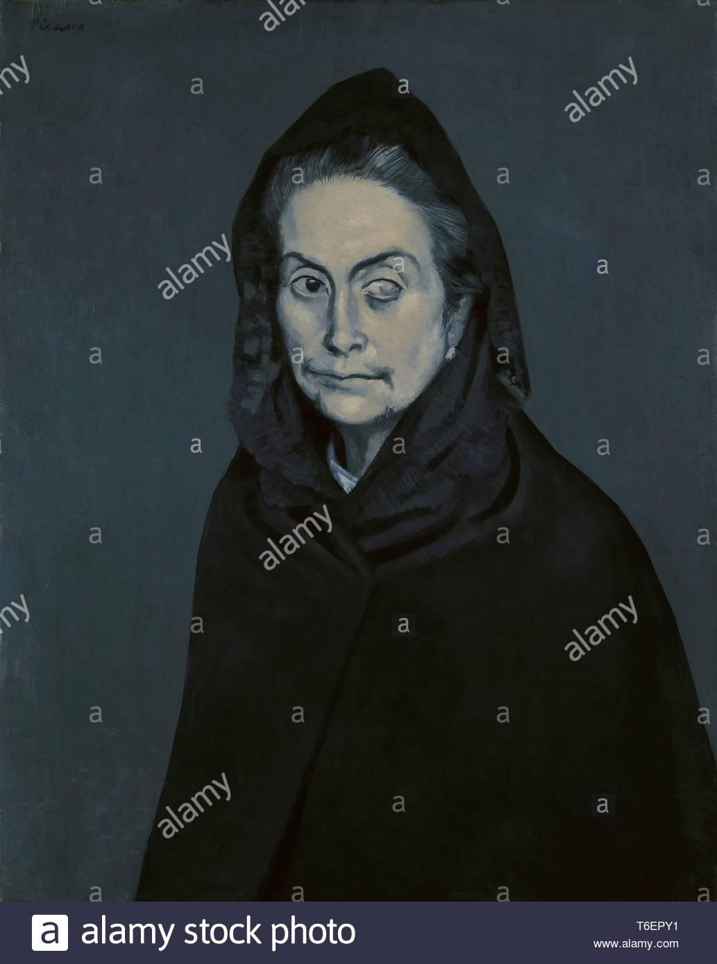 Pablo Picasso-Portrait de Carlota Valdivia (appele plus tard La Celestine) (La Celestina) - Stock Image
