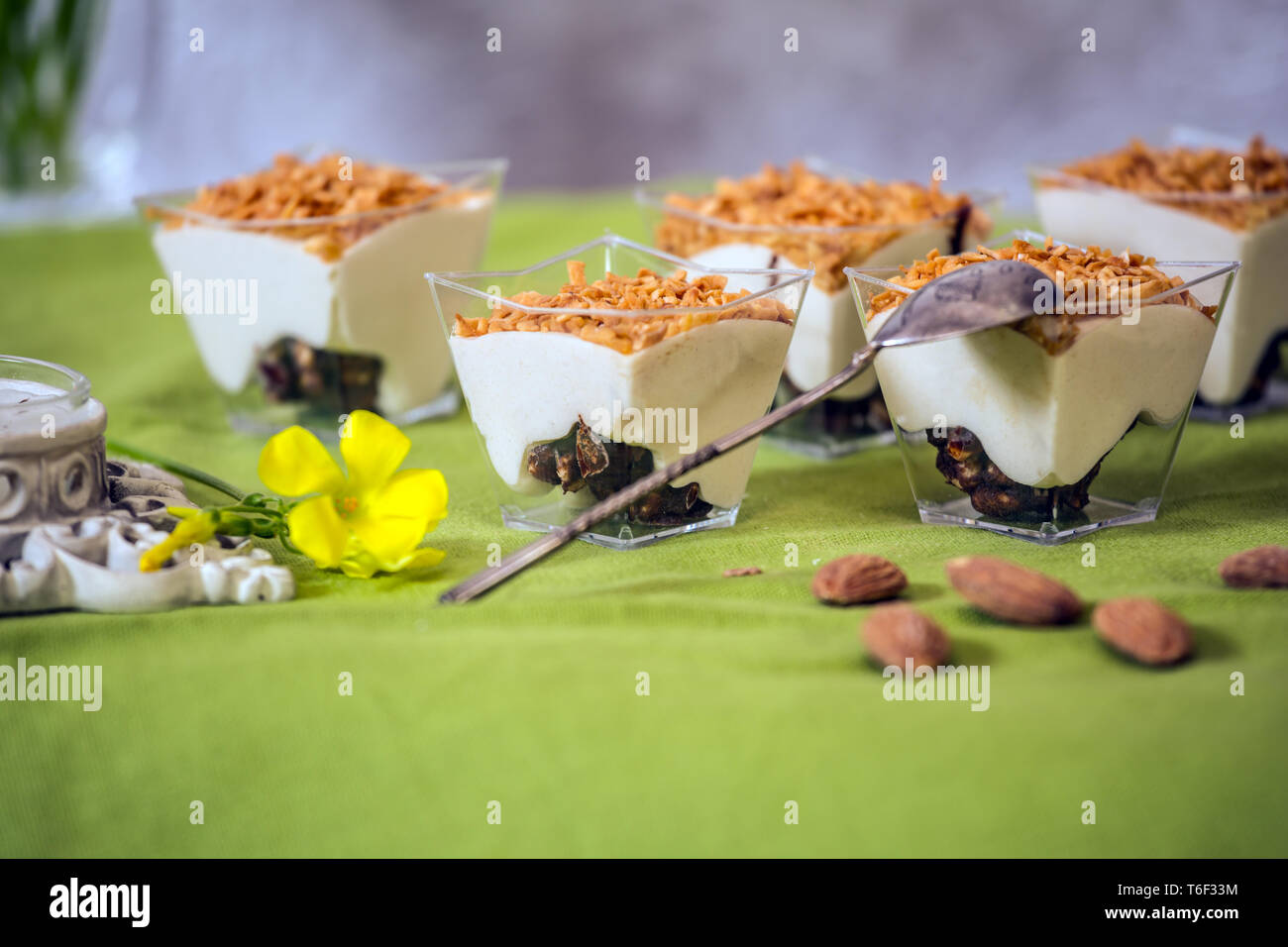 Sweet mousse halva - Stock Image