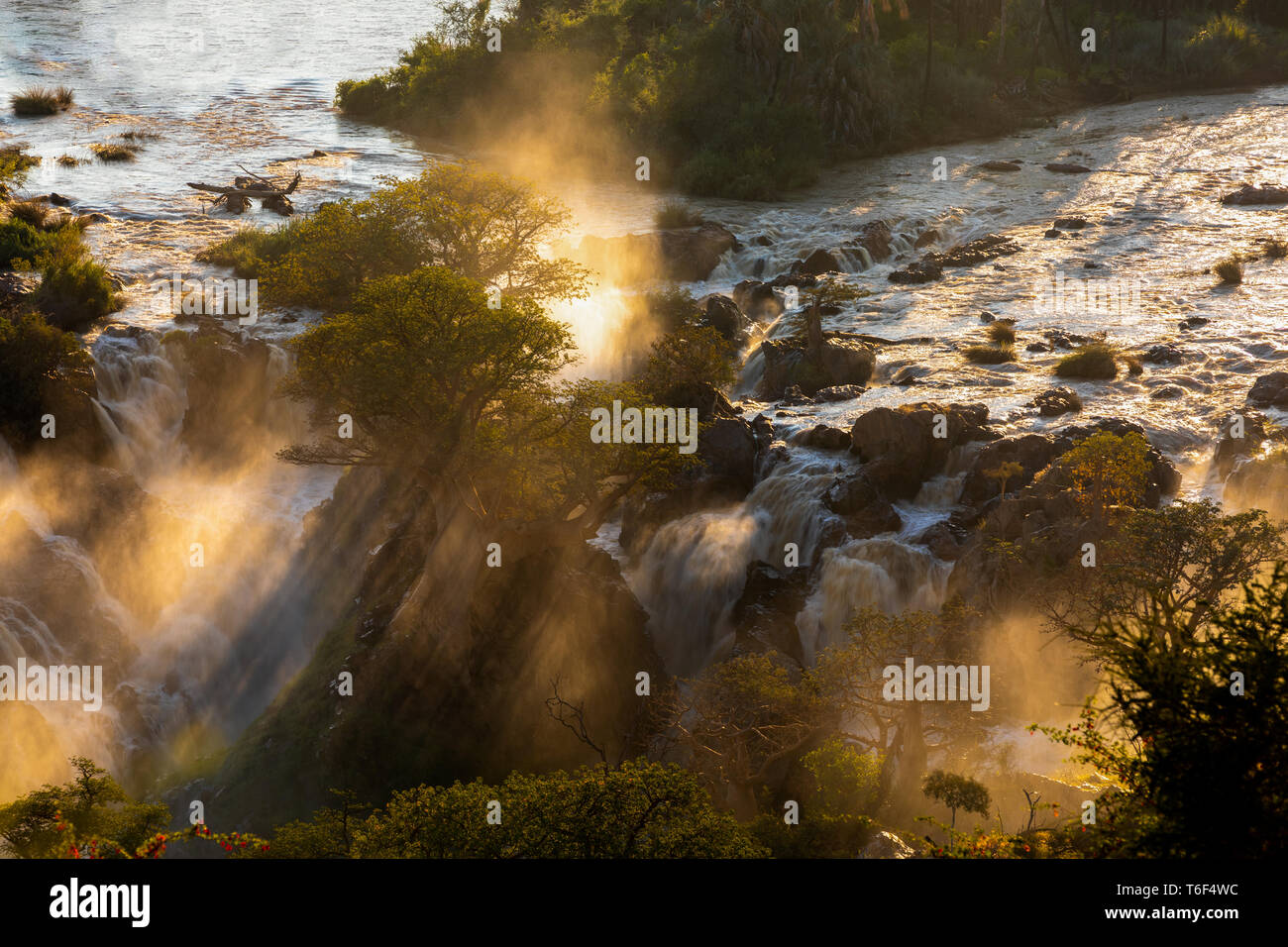 Epupa Falls on the Kunene River in Namibia - Stock Image