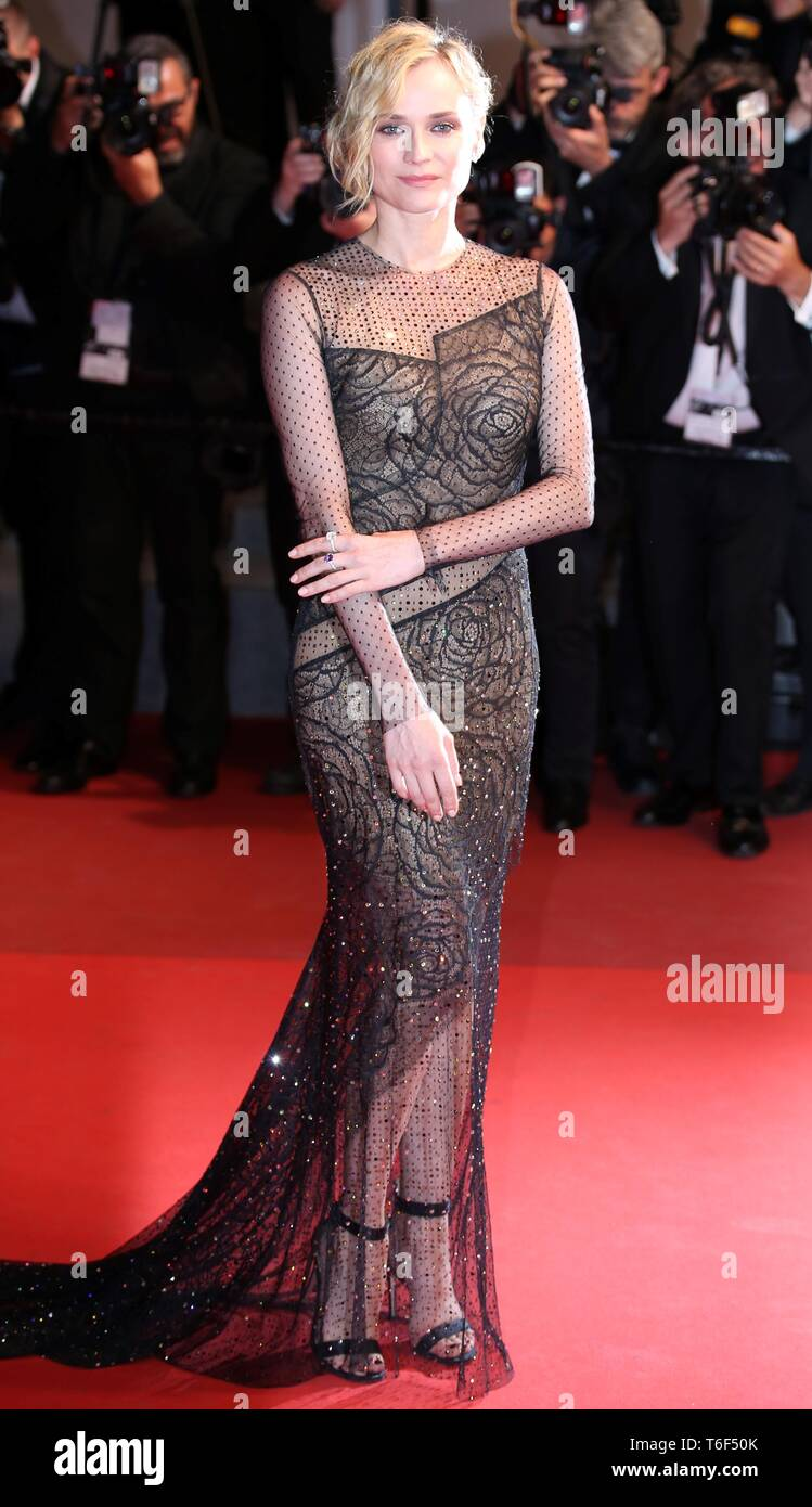 CANNES, FRANCE – MAY 26, 2017: XX attends the screening of 'In the Fade' at the 70th Cannes Film Festival (Photo: Mickael Chavet) - Stock Image