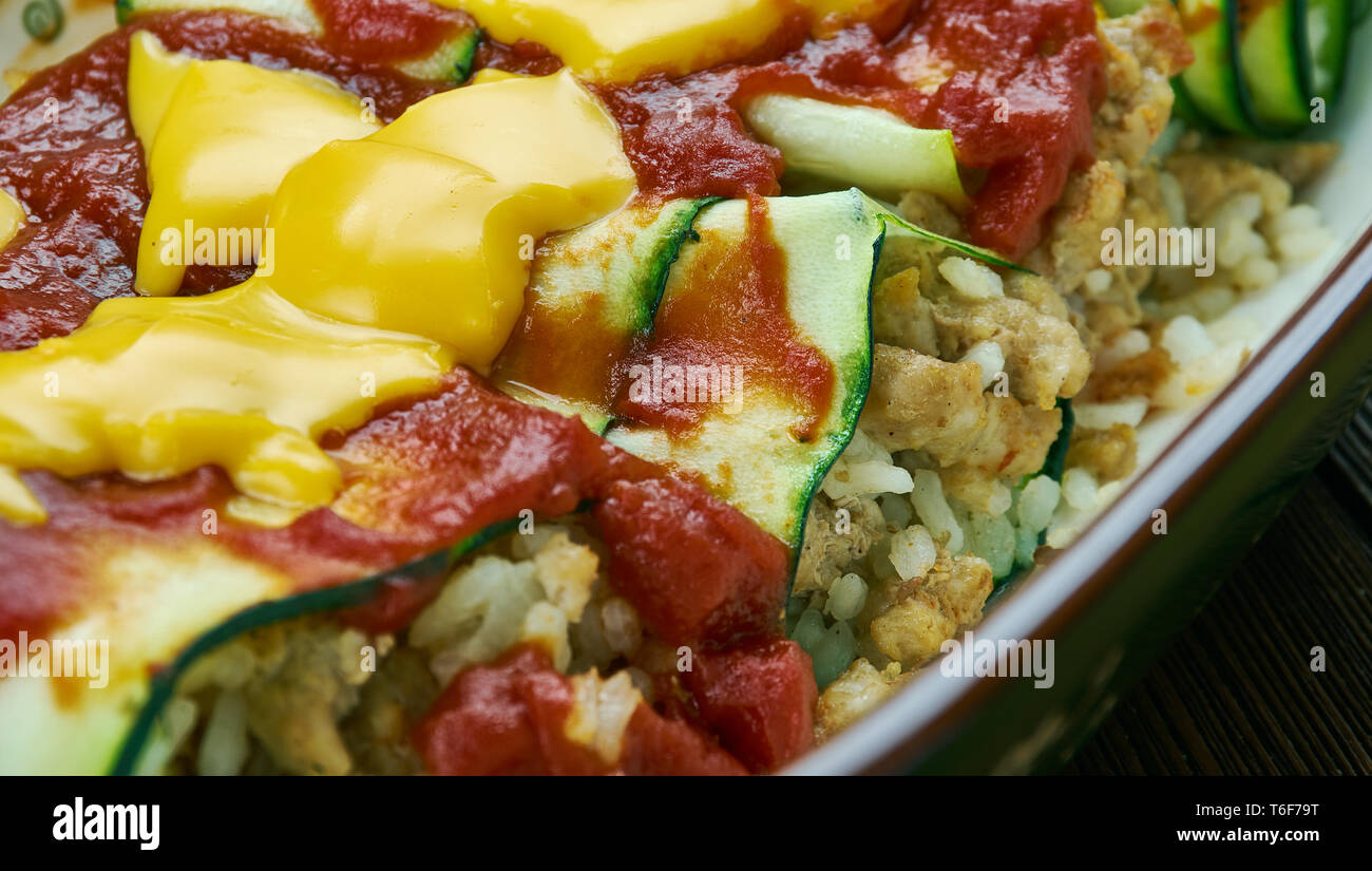 Zucchini Enchiladas Stock Photo