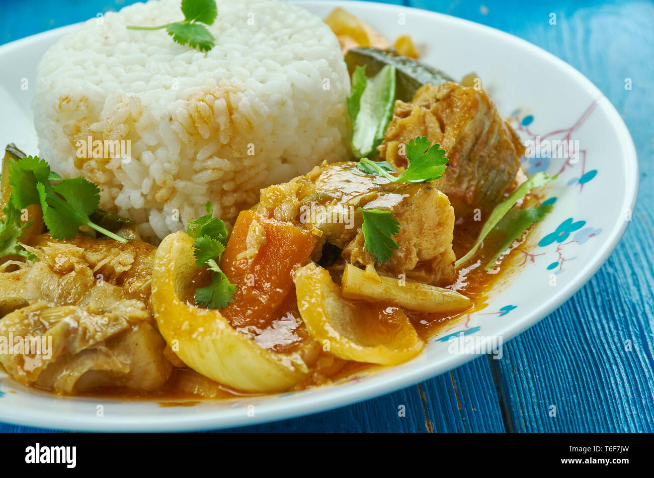 Seychelles fish curry - Stock Image