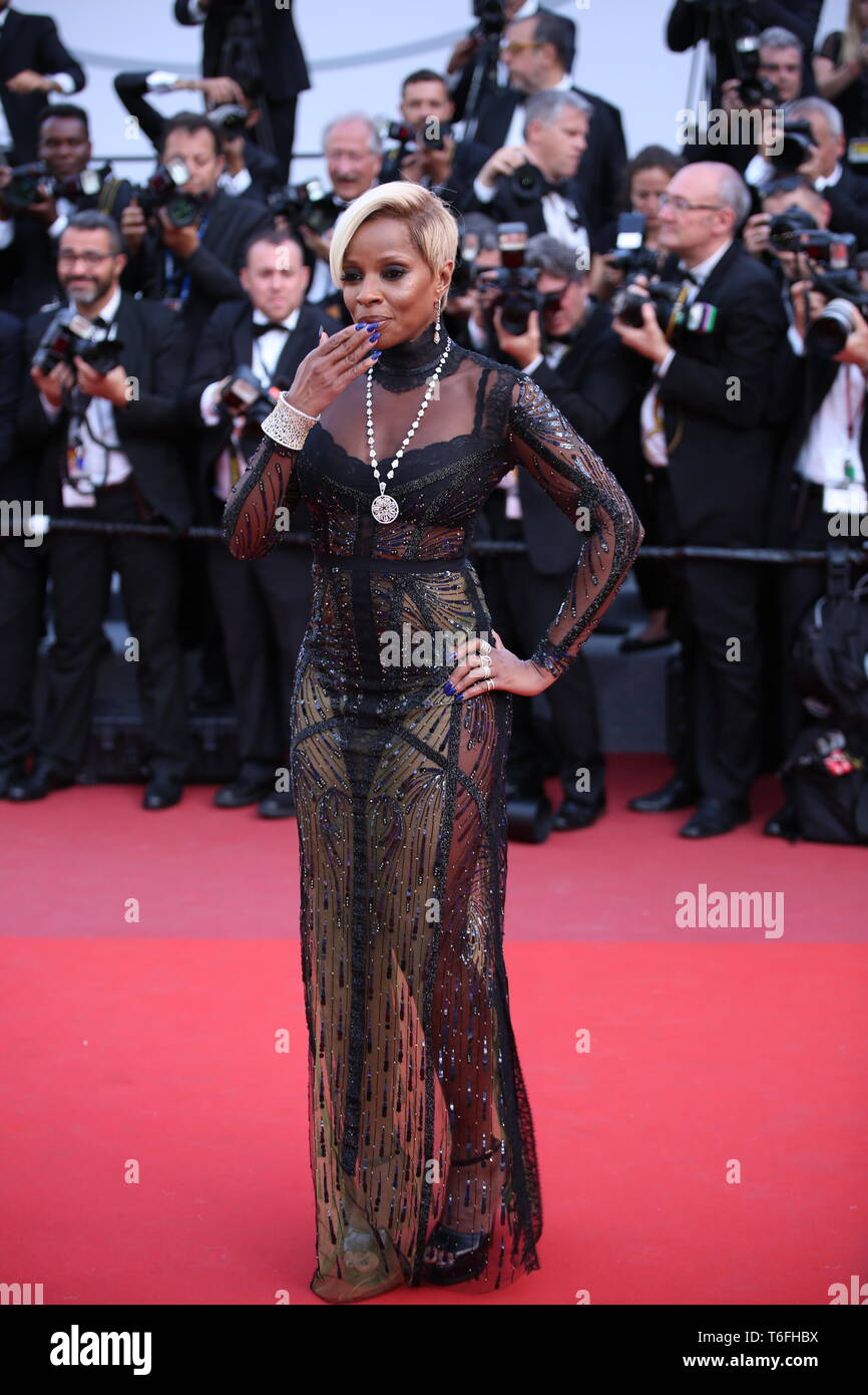 CANNES, FRANCE – MAY 21, 2017: Mary J. Blige attends 'The Meyerowitz Stories' screening at the 70th Cannes Film Festival (Photo: Mickael Chavet) - Stock Image
