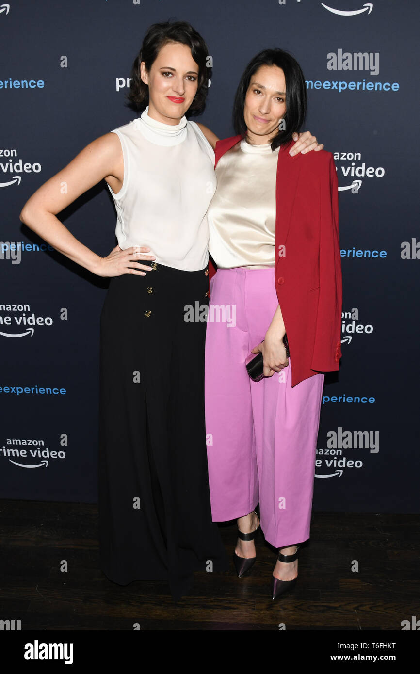 April 30, 2019 - Hollywood, California, USA - SIAN CLIFFORD and PHEOBE WALLER-BRIDGE attends the FYC Screening of Amazon Prime Experience Screening of ' Fleabag' at The Hollywood Athletic Club in Hollywood, California. (Credit Image: © Billy Bennight/ZUMA Wire) - Stock Image