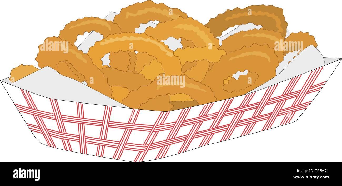 Onion Rings Vector Illustration - Stock Vector