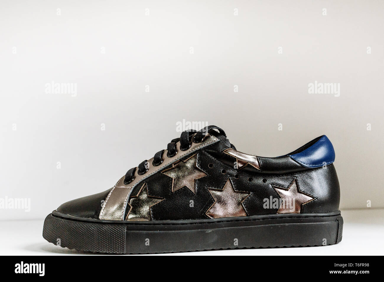 Black And Silver Trainers High