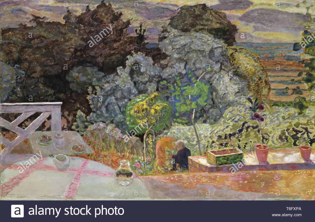 Pierre Bonnard-The Terrace - Stock Image