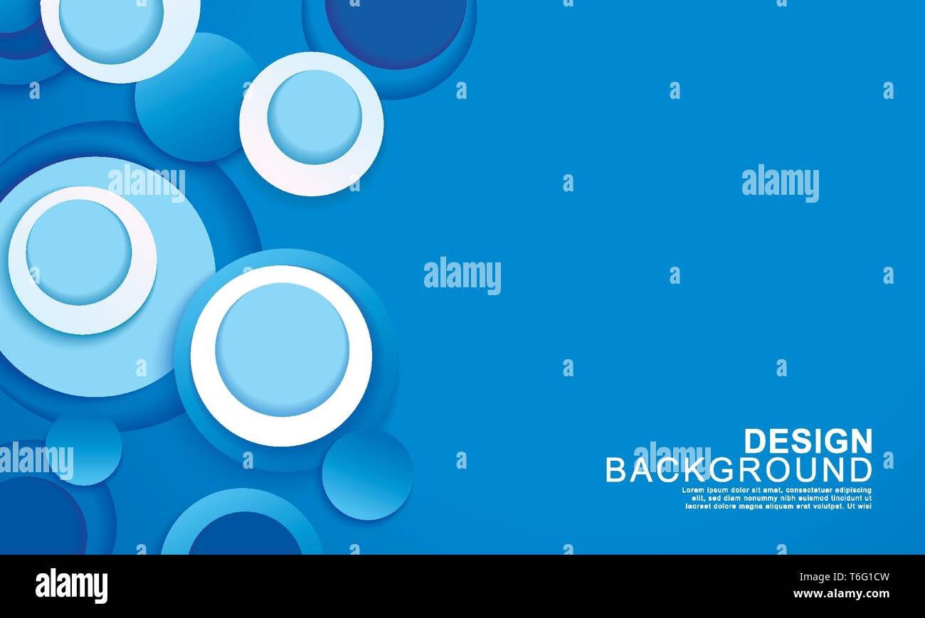 Paper Layer Circle Blue Abstract Background Curves And