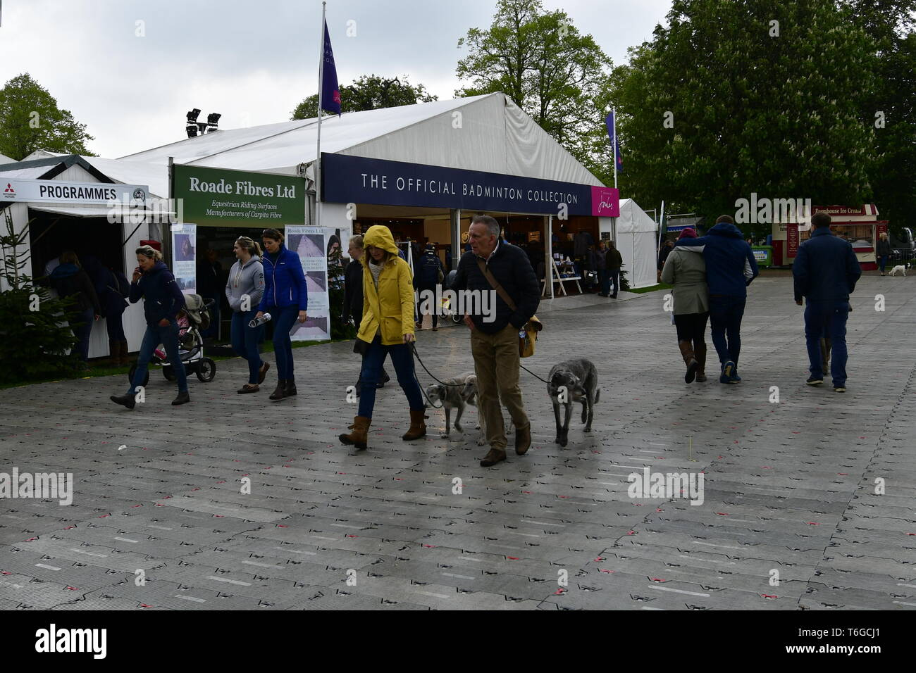 Trade Stands Badminton Horse Trials : Badminton gloucestershire uk. 1st may 2019. uk weather: on a wet