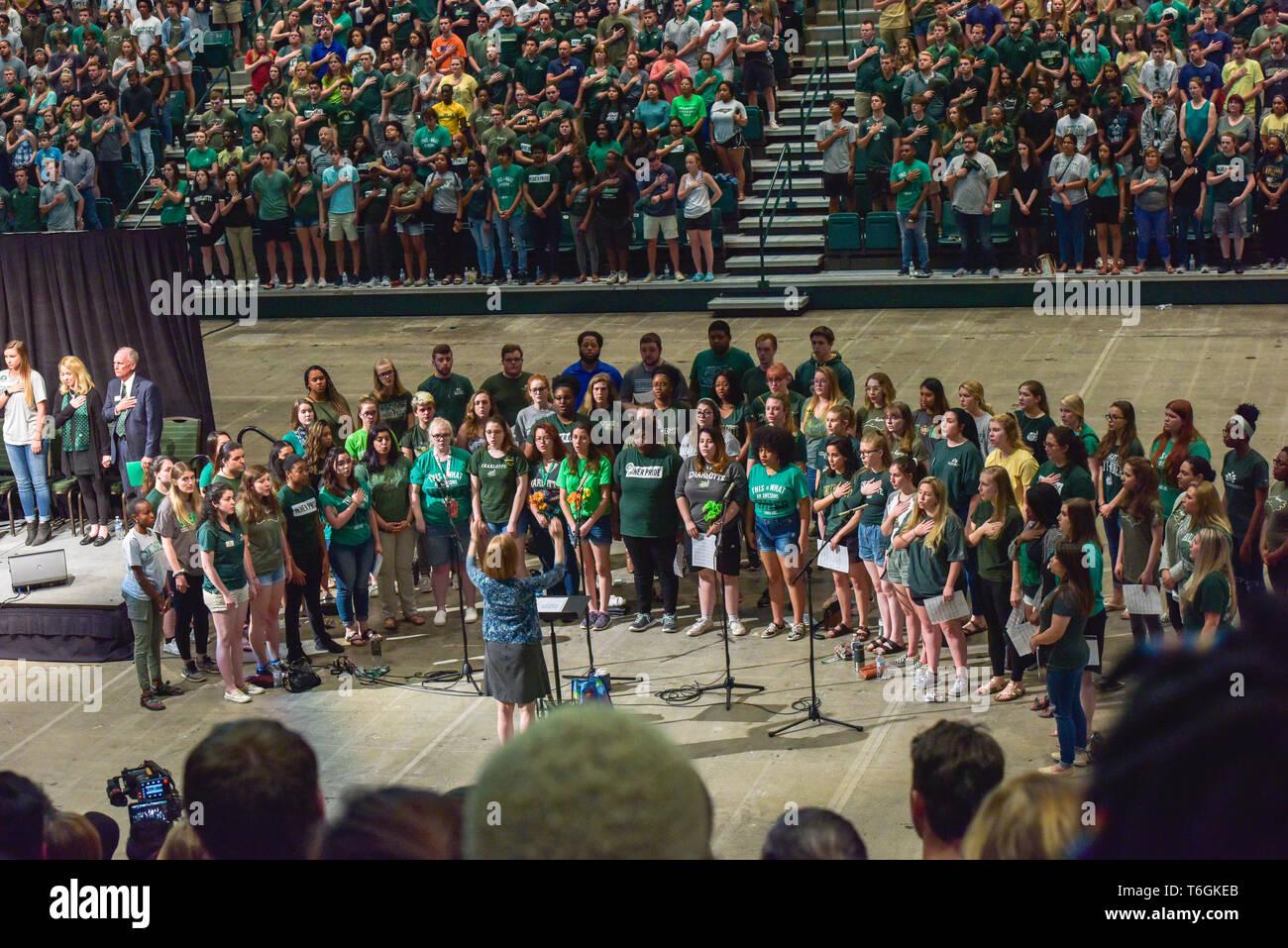 Charlotte, North Carolina, USA  01st May, 2019  Students
