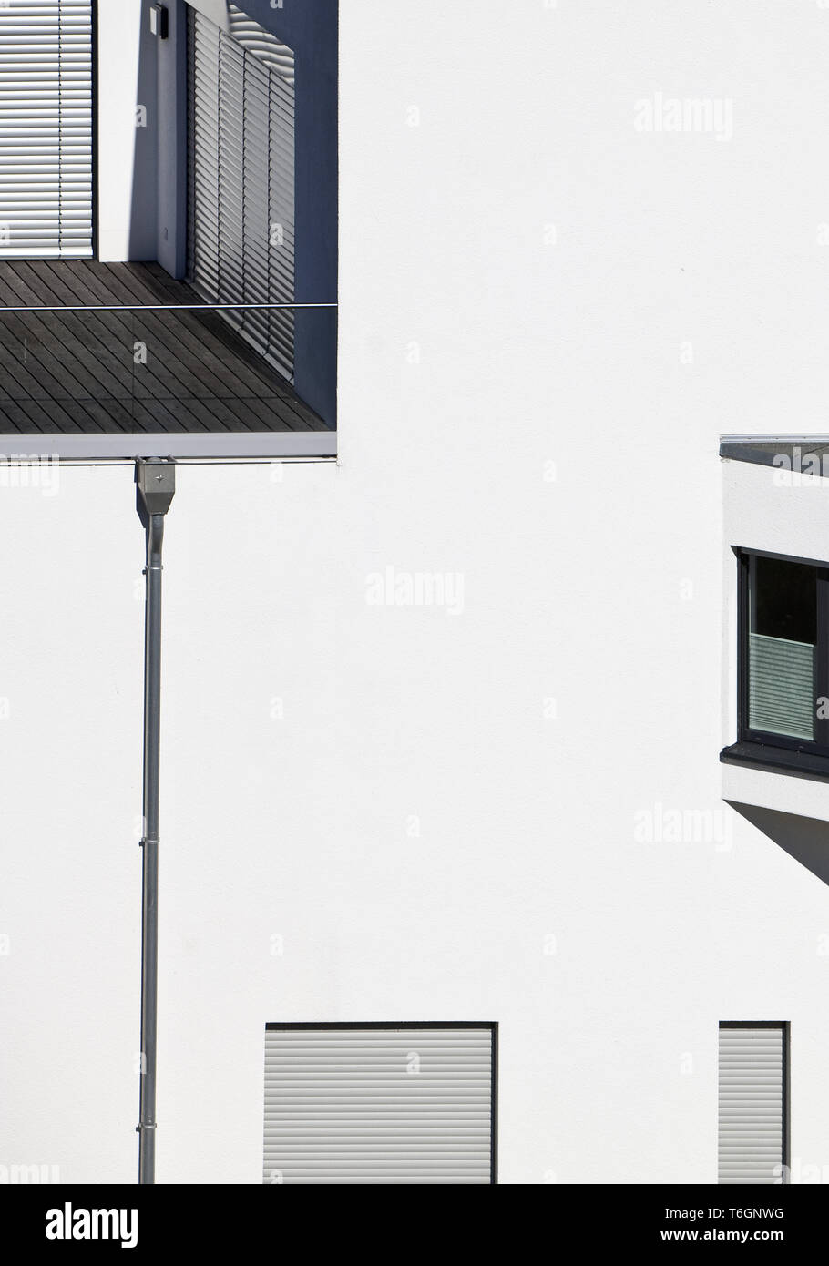 details of modern architecture at the Phoenix lake, Dortmund, Ruhr Area, Germany, Europe - Stock Image