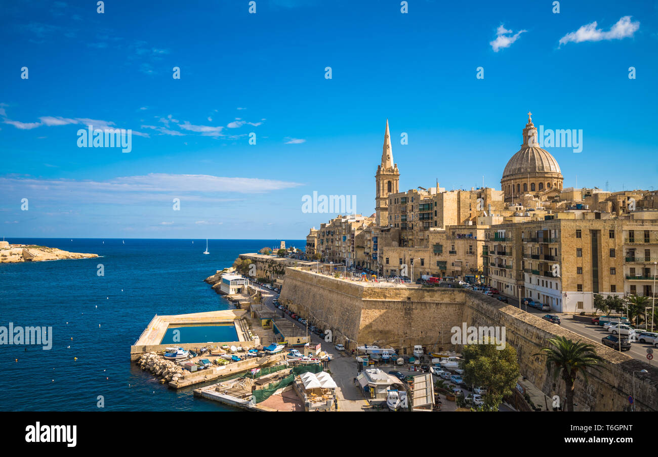 View of Valletta, the capital of Malta - Stock Image