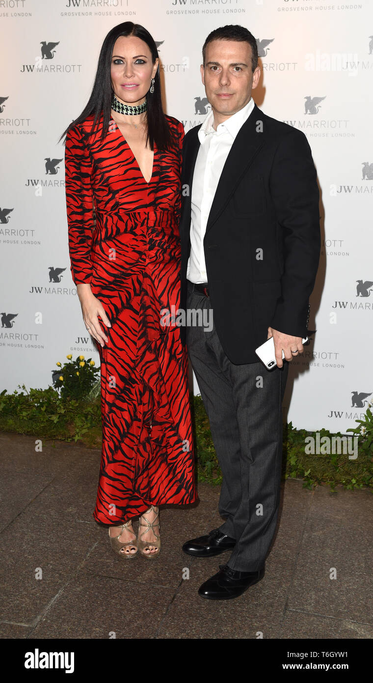 Photo Must Be Credited ©Alpha Press 079965 30/04/2019 Linzi and Will Stoppard JW Marriott Grosvenor House London 90th Anniversary In London - Stock Image