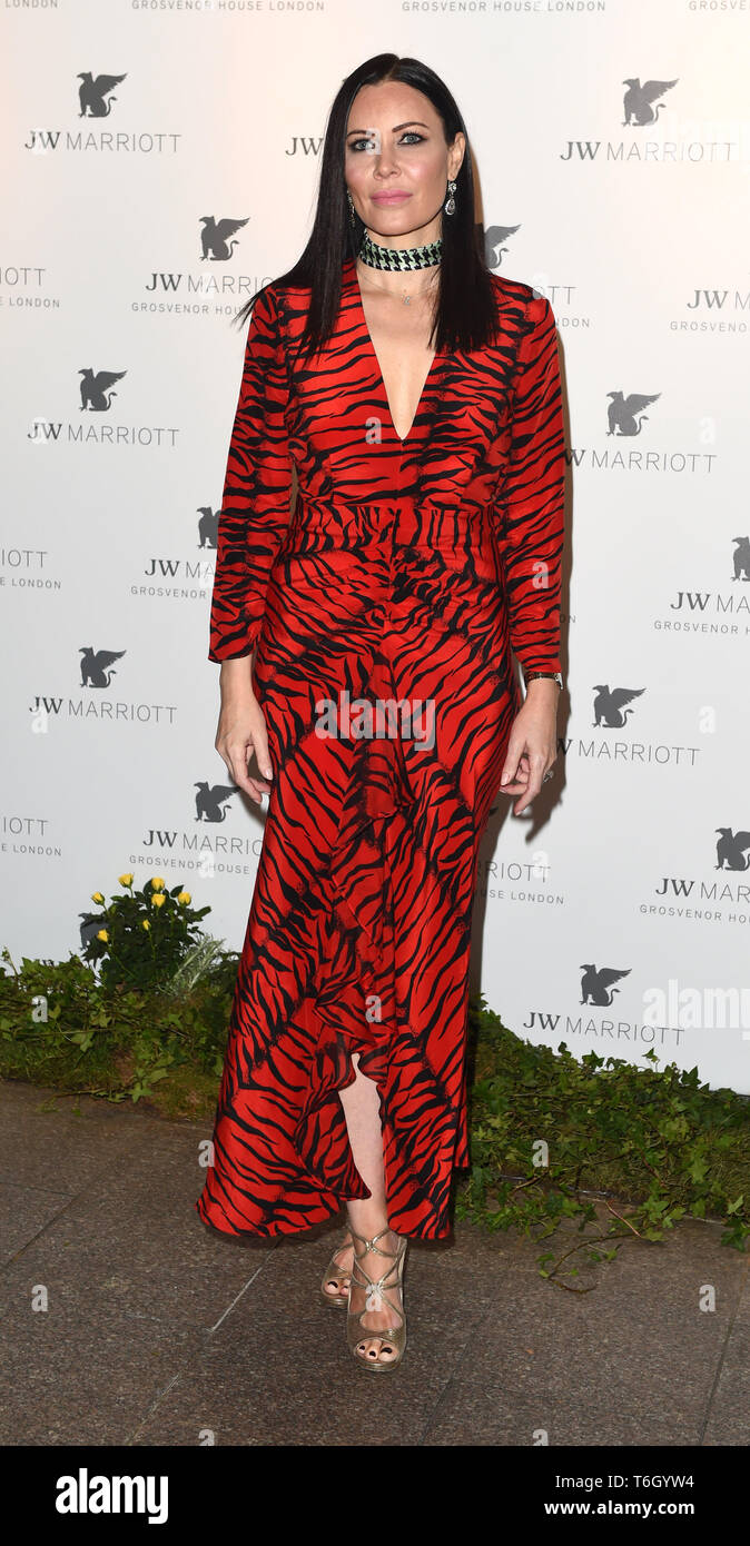 Photo Must Be Credited ©Alpha Press 079965 30/04/2019 Linzi  Stoppard JW Marriott Grosvenor House London 90th Anniversary In London - Stock Image