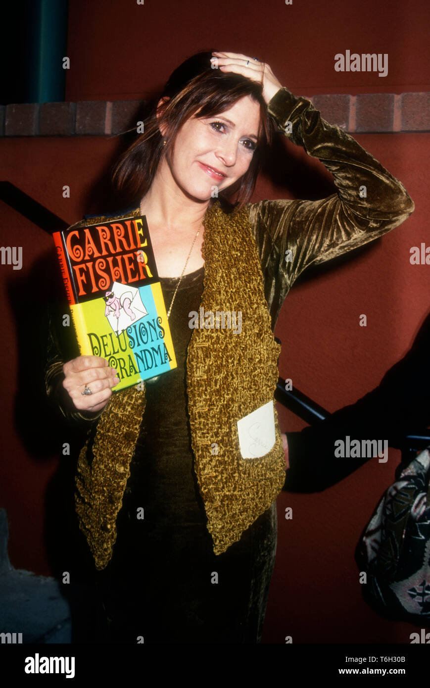 Los Angeles, California, USA 15th April 1994  Actress Carrie Fisher attends Book Signing for her book Delusions of Grandma on April 15, 1994 at Book Soup in Los Angeles, California, USA. Photo by Barry King/Alamy Stock Photo - Stock Image