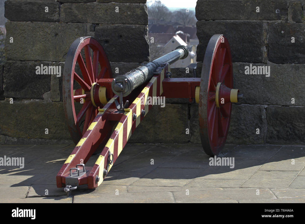 gun mount - lafette Stock Photo