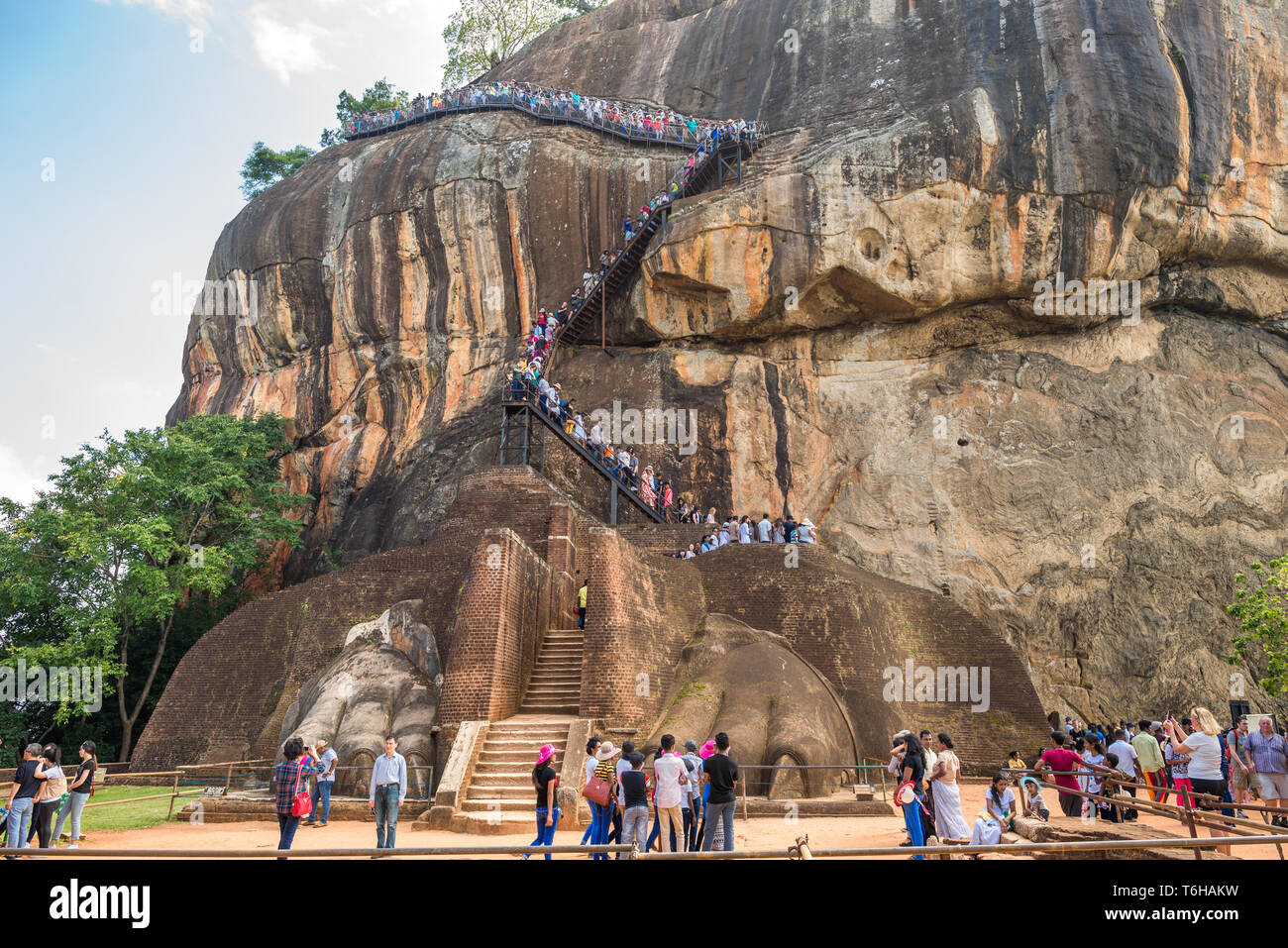 The lions gate of the Sigiriya rock fortress - Stock Image