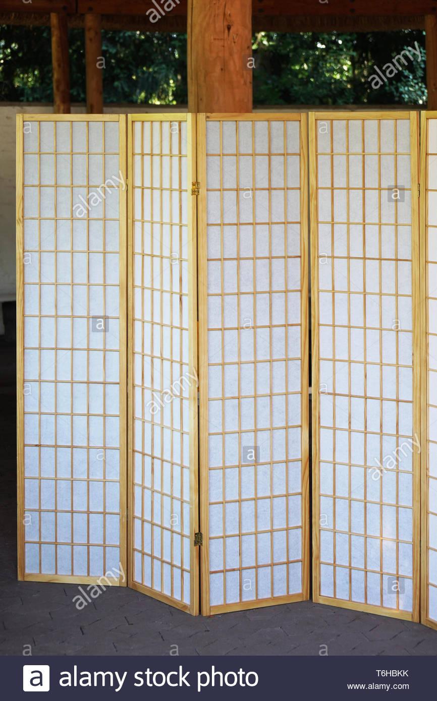 japanese folding screen Stock Photo