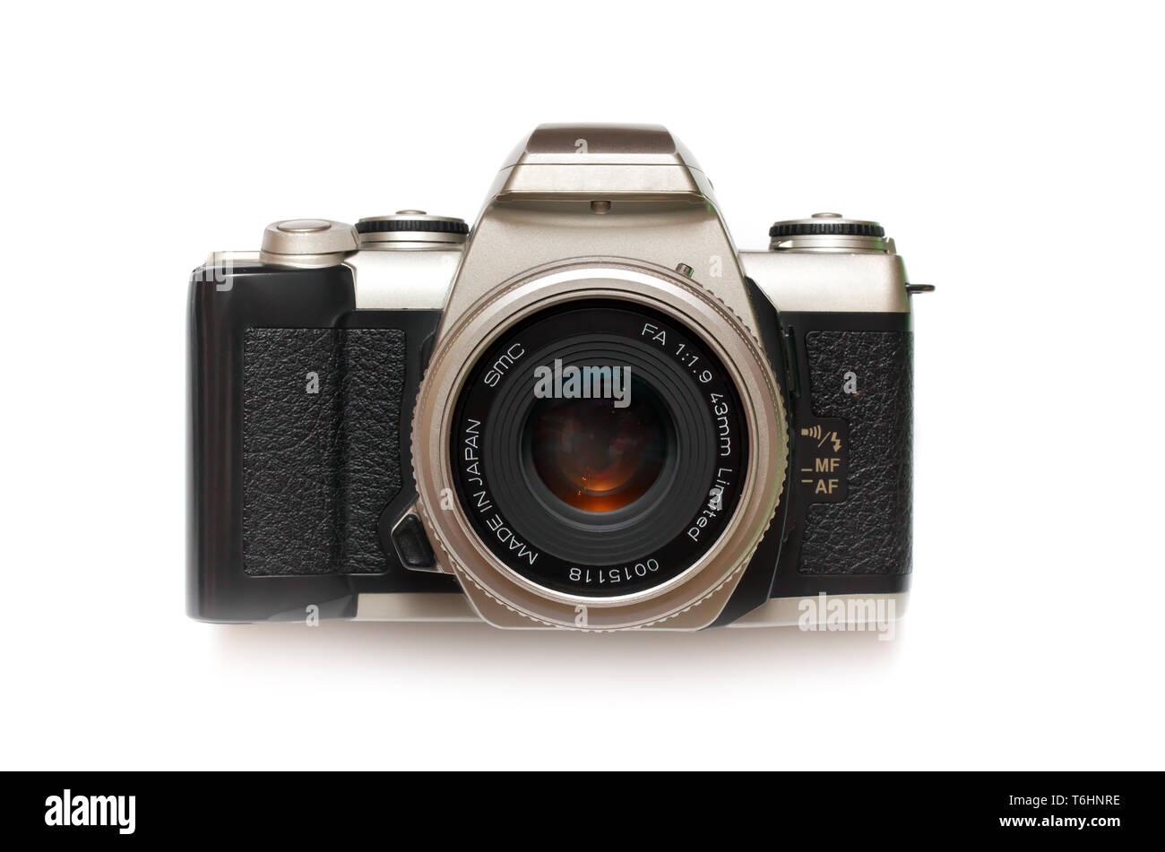 Photo camera isolated. Element of design. - Stock Image