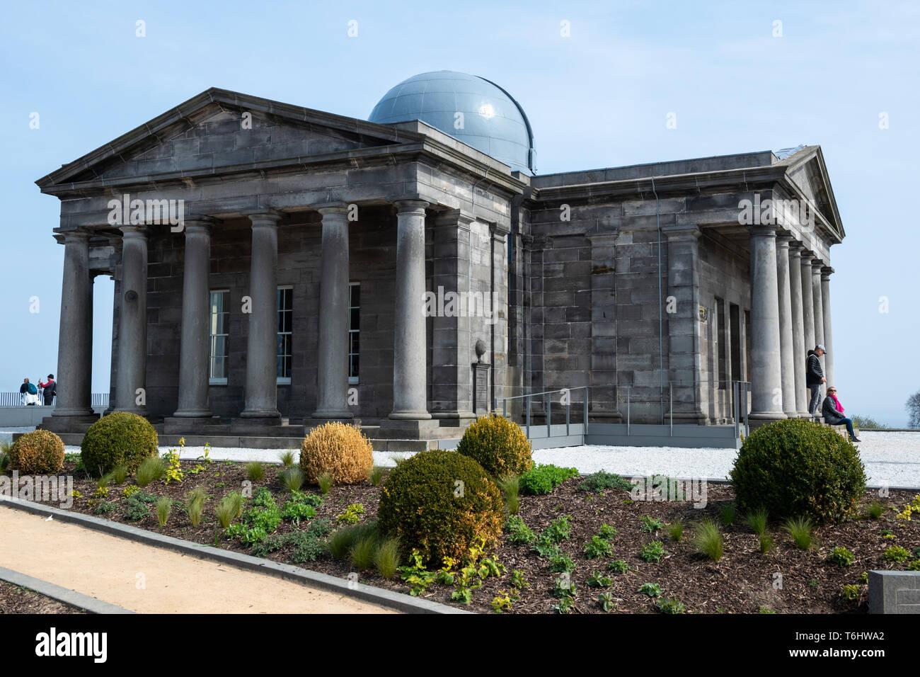 Restored City Observatory, now the Collective Arts Centre, on Calton Hill, Edinburgh, Scotland, UK Stock Photo