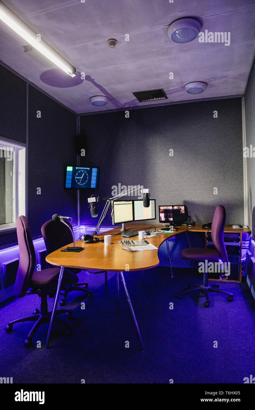 Cool A Front View Shot Of A Radio Station Studio Interior A Spiritservingveterans Wood Chair Design Ideas Spiritservingveteransorg