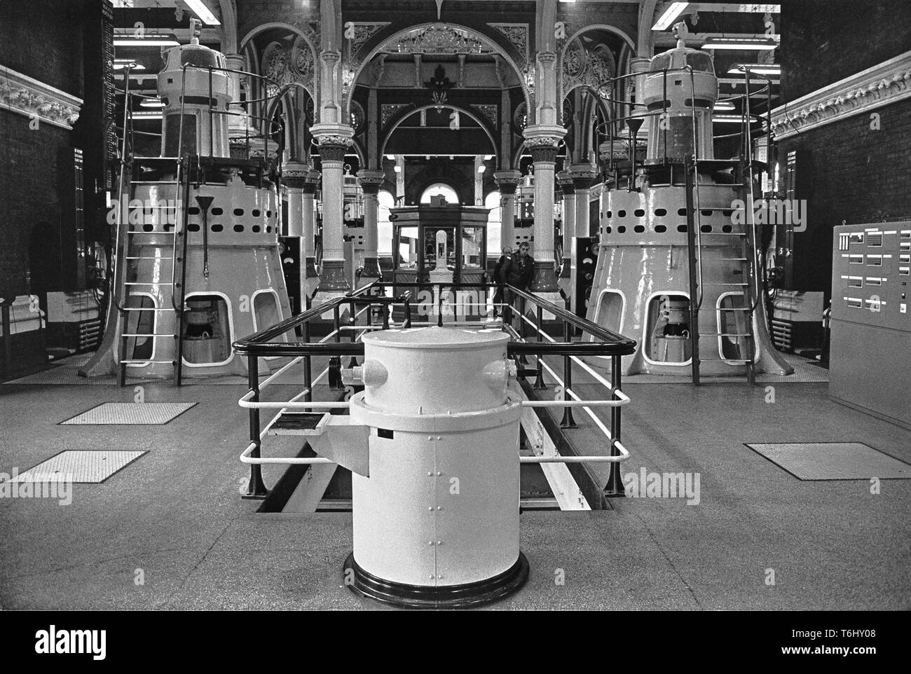 7-2 Tower Hamlets Abbey Mills Pumping Station 1979.nef - Stock Image
