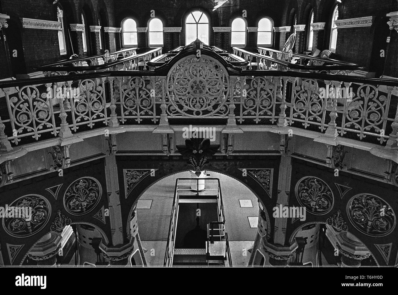 7/7  Tower Hamlets Abbey Mills Pumping Station 1979.nef - Stock Image
