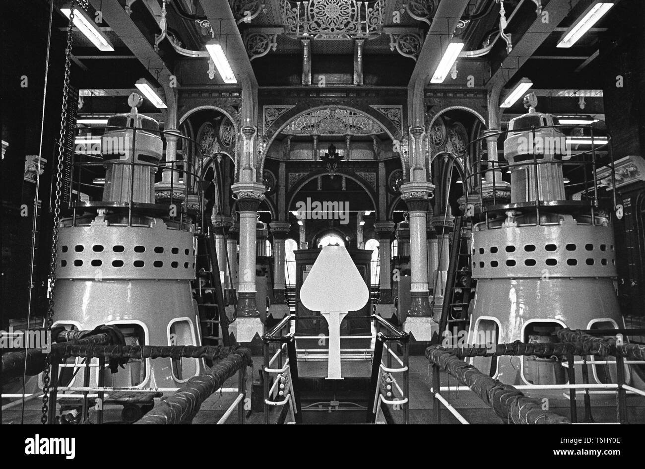 7/19  Tower Hamlets Abbey Mills Pumping Station 1979.nef - Stock Image