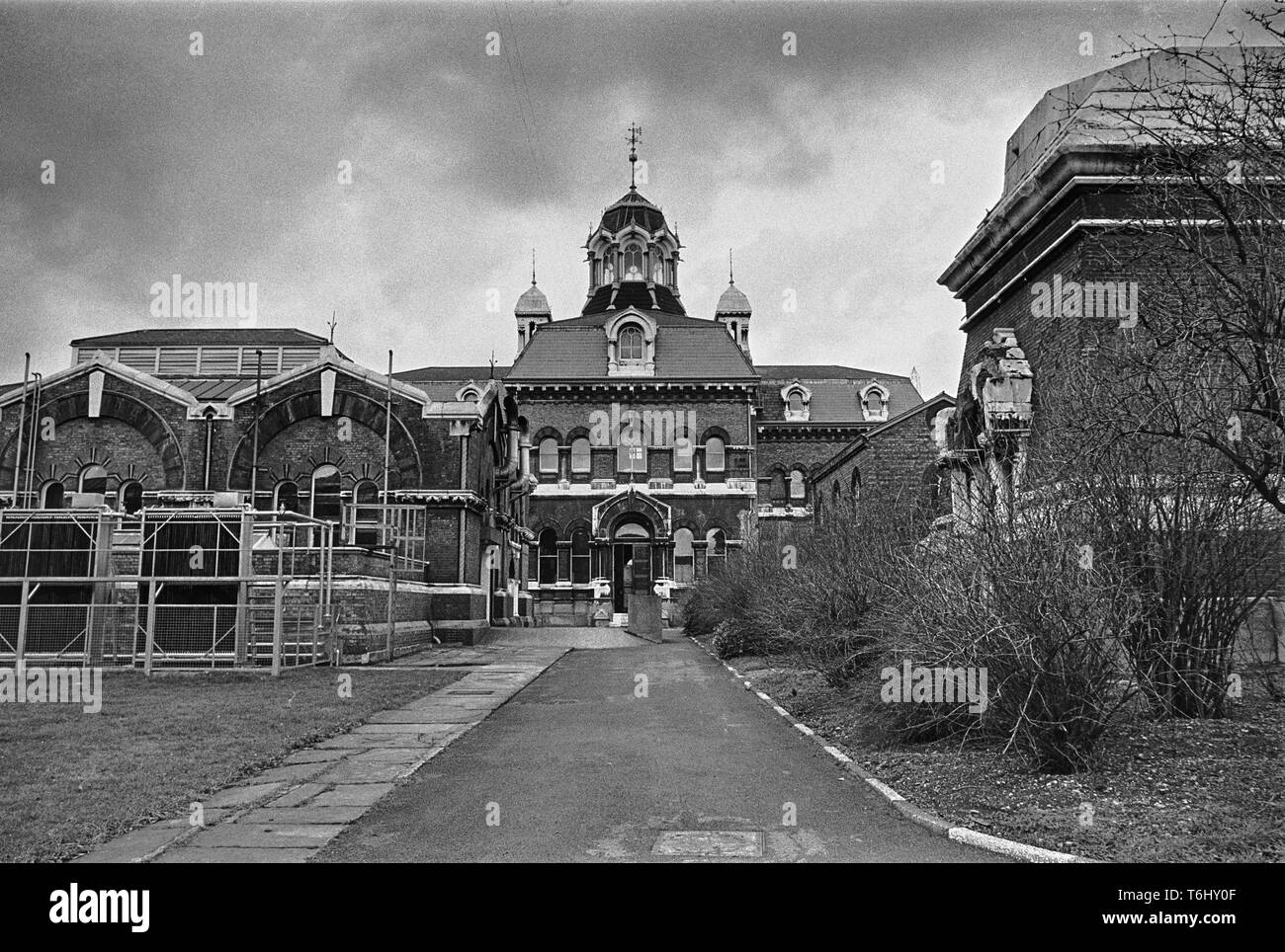 7/22  Tower Hamlets Abbey Mills Pumping Station 1979.nef - Stock Image