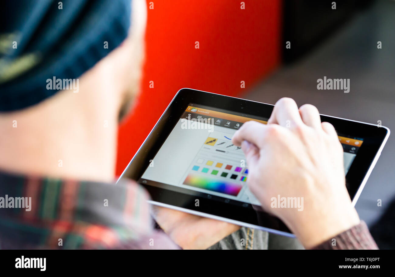Android Tablet Stock Photos & Android Tablet Stock Images