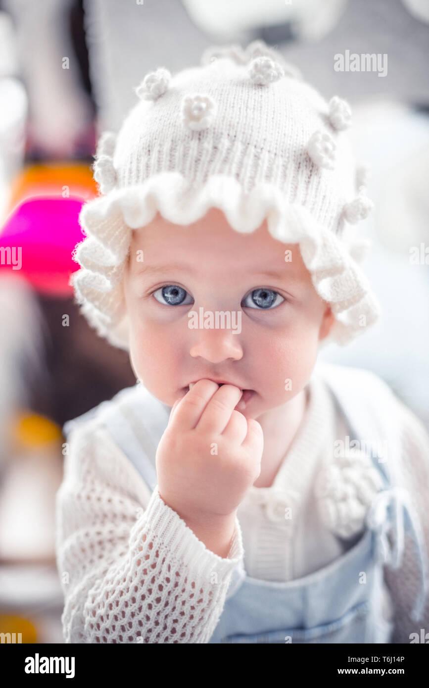 Funny baby girl Stock Photo