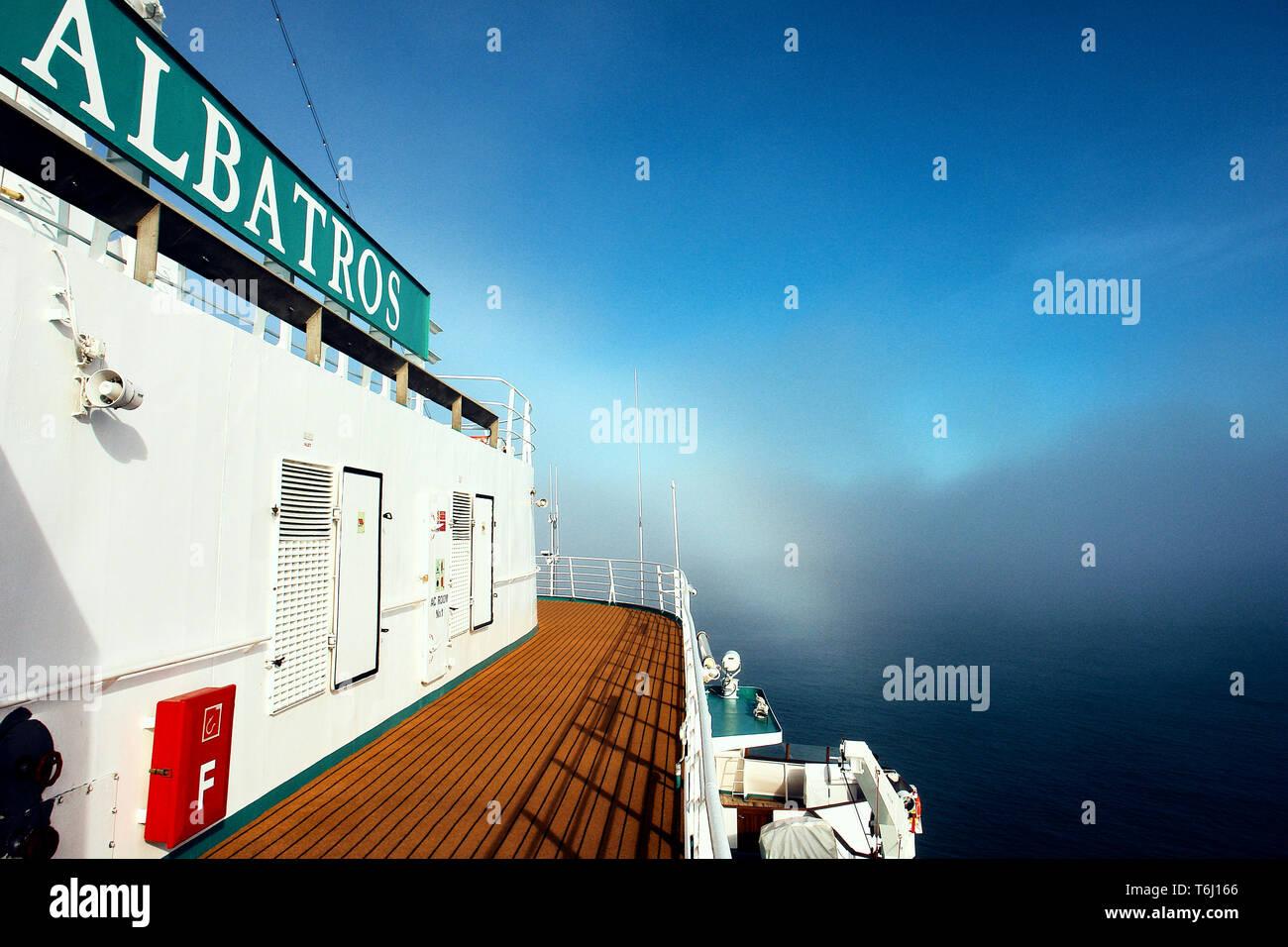 Auf Deck der MS Albatros von phoenix-reisen - Stock Image