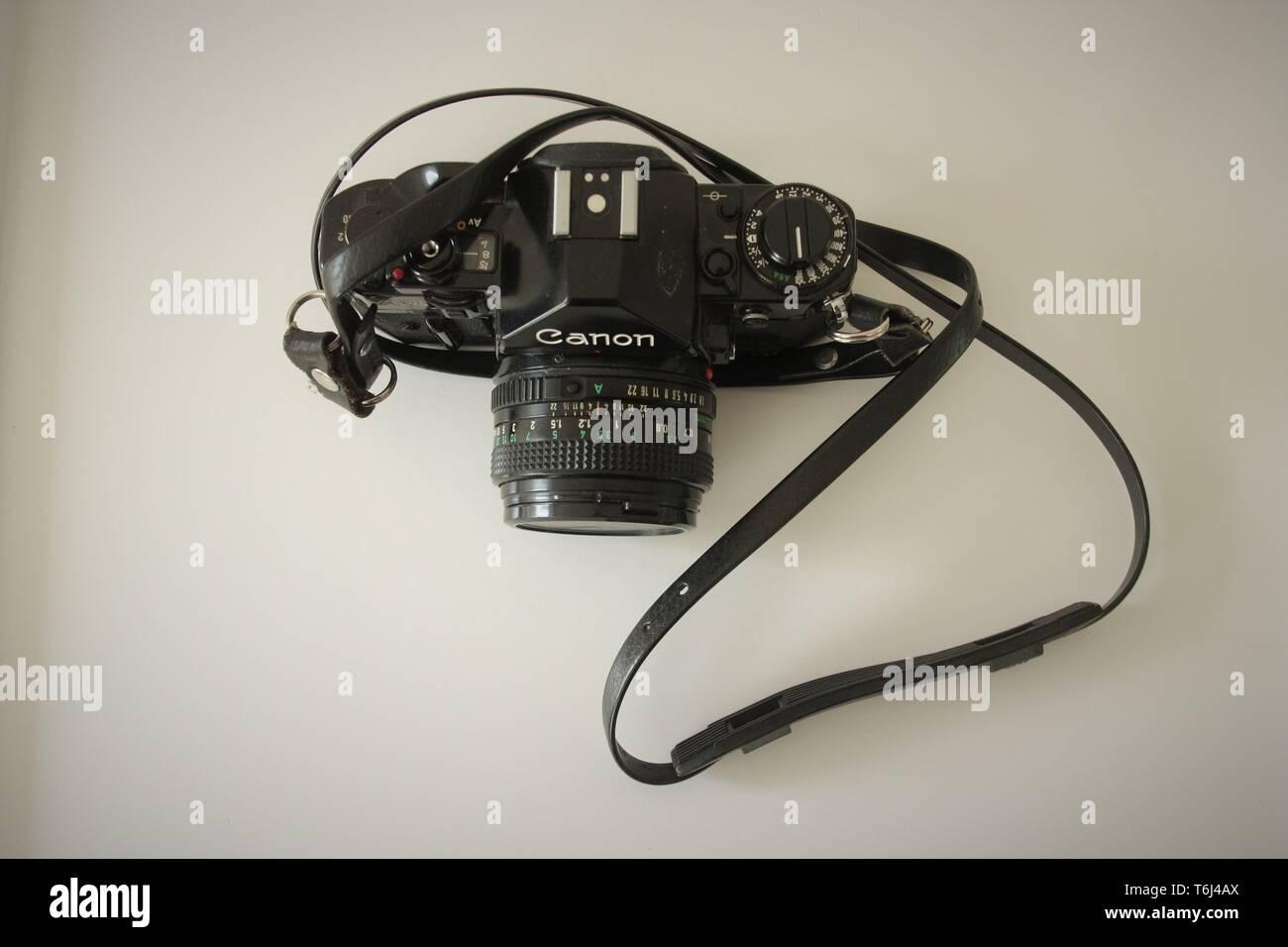 Canon A 1 camera - Stock Image