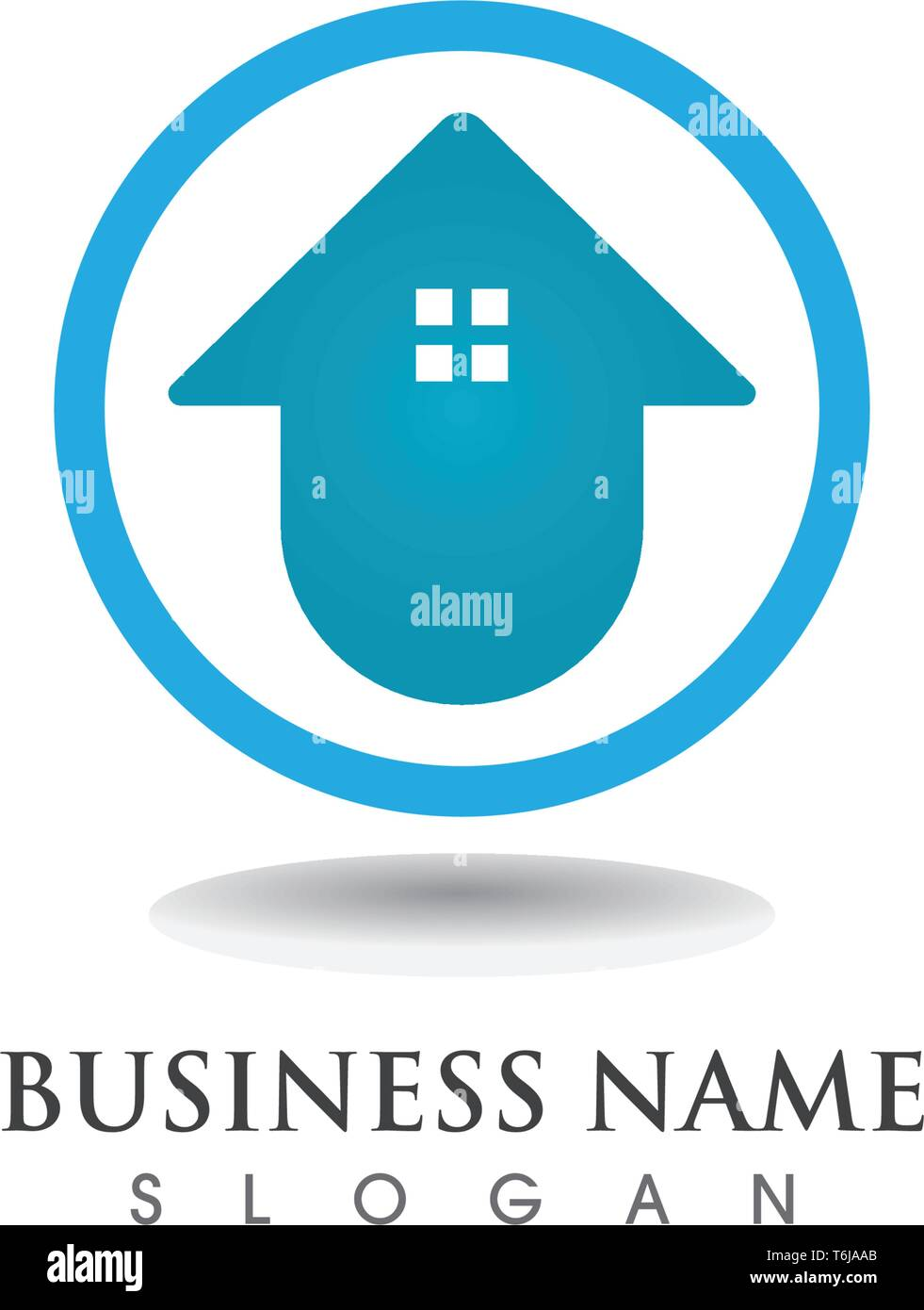 Home sweet home logo and symbol vector - Stock Vector