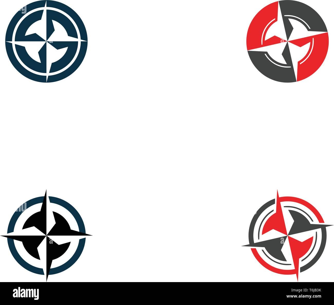 Compass logo template icon vector image - Stock Vector