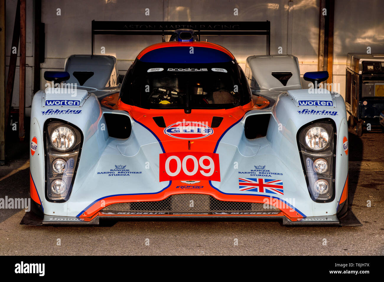 2009 Lola Aston Martin B09 60 Lmp1 Endurance Racer In The Paddock Garage At The 77th Goodwood Members Meeting Sussex Uk Stock Photo Alamy