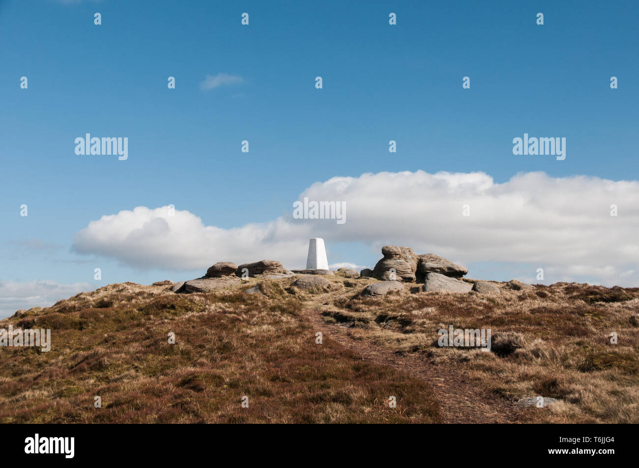 One of a series of images captured on a 7.5 mile walk from the village of Wycoller onto the slopes of Boulsworth Hill and the peak of Lad Law at 517m. - Stock Image