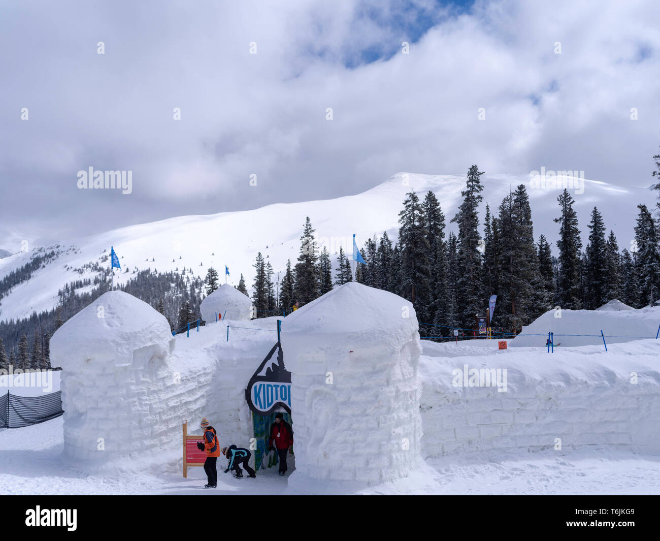 Snow Fort at Keystone Ski Resort, Keystone, Colorado, USA. - Stock Image