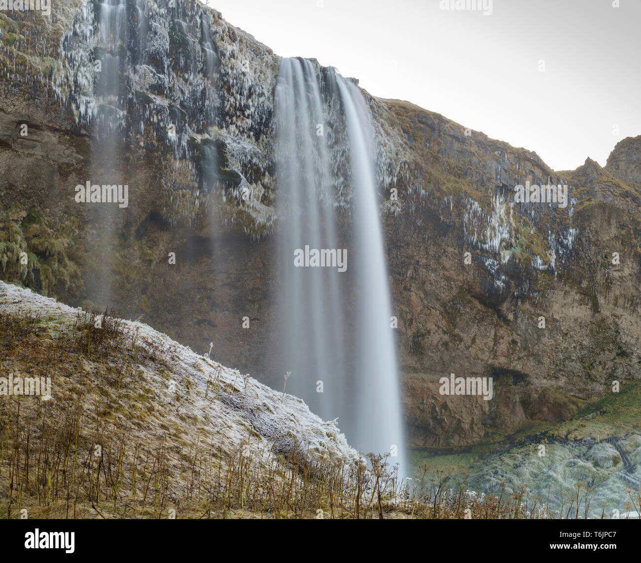 Seljalandsfoss in the autumn time - Stock Image