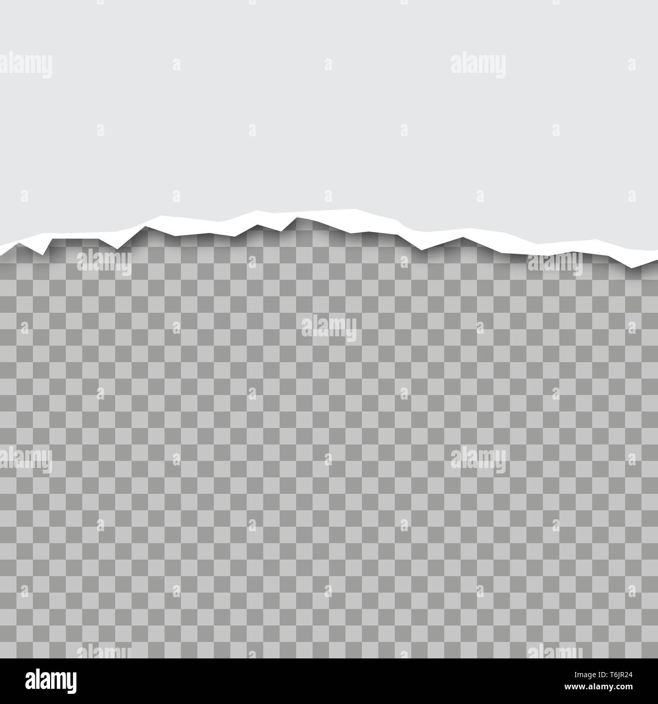 Vector illustration of ripped paper with transparent background