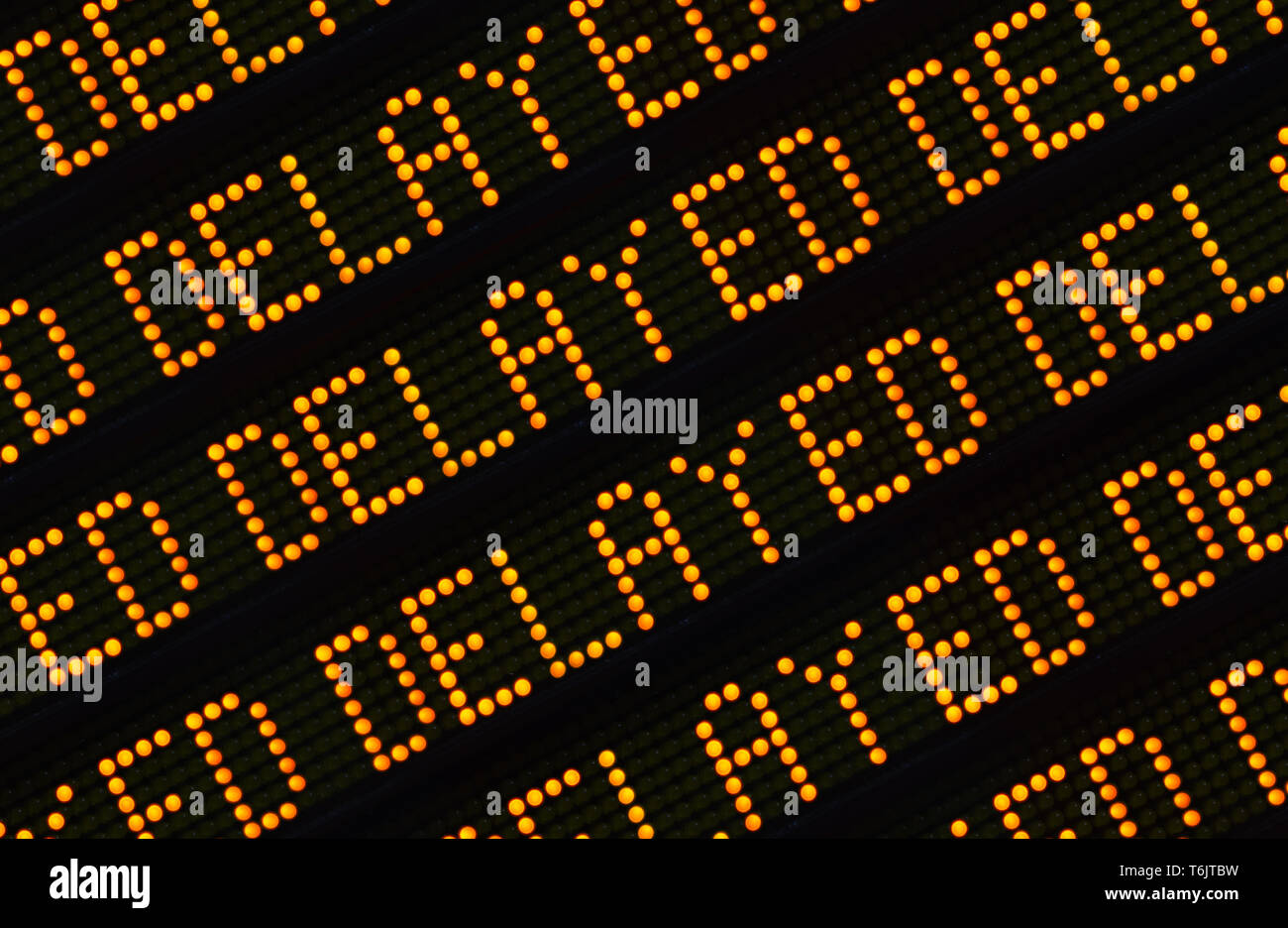 Delayed Sign Closeup - Stock Image