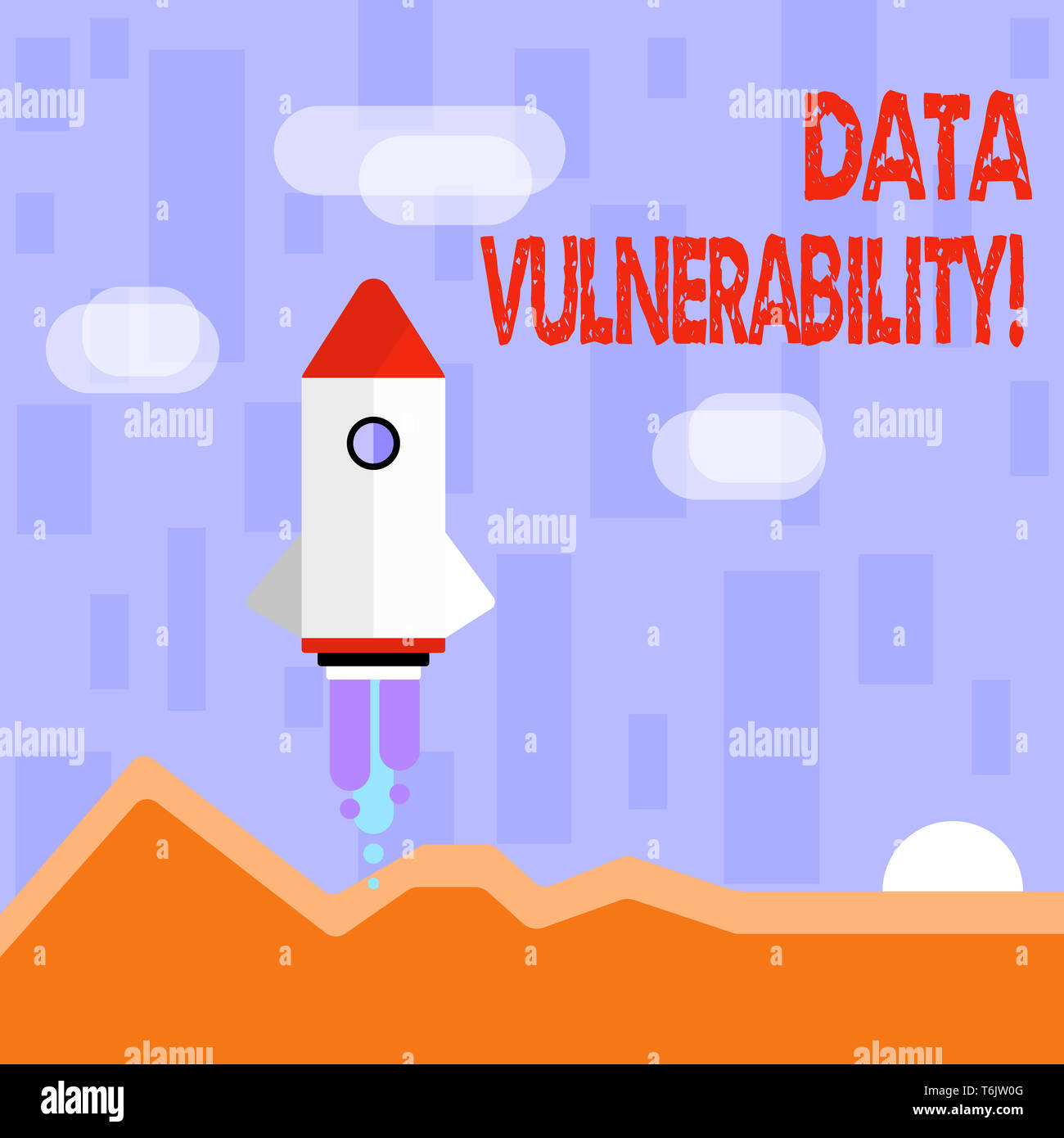 Writing note showing Data Vulnerability. Business concept for weakness of a data which can be exploited by an attacker Colorful Spacecraft Shuttle Lau - Stock Image