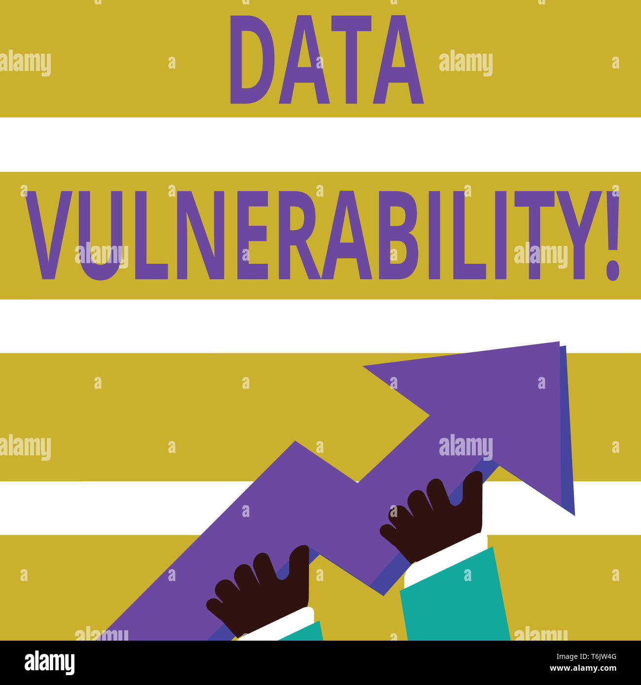 Writing note showing Data Vulnerability. Business concept for weakness of a data which can be exploited by an attacker photo of Hand Holding Colorful  - Stock Image